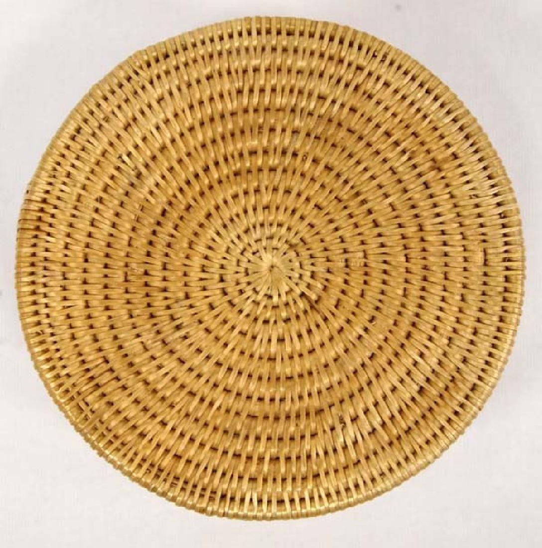 Native American Two Toned Single Rod Lidded Basket - 4