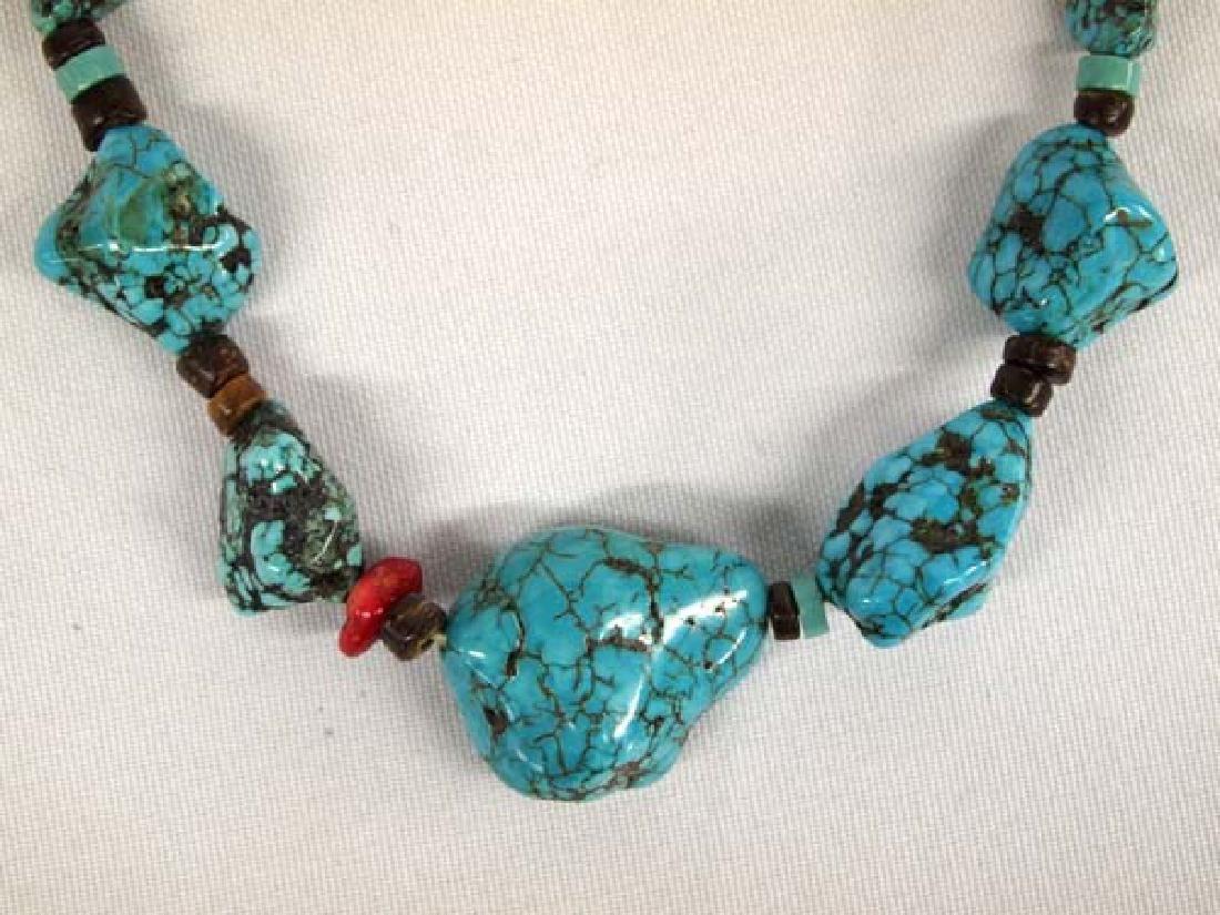 Southwestern Kingman Turquoise Nugget Necklace