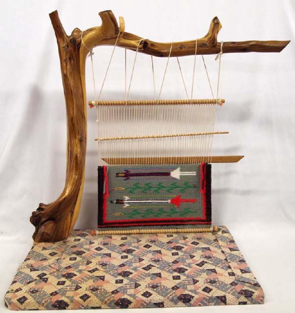 Huge Navajo Miniature Cedar Loom & Rug
