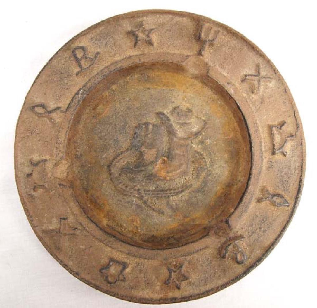 Vintage Cowboy Ranch Brand Cast Iron Ashtray