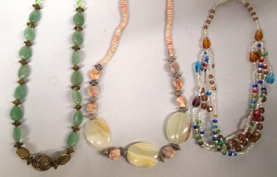 3 Hand Beaded Necklaces by Kathy Kills Thunder