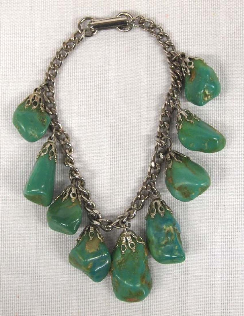 1950 Natural Green Turquoise Bracelet