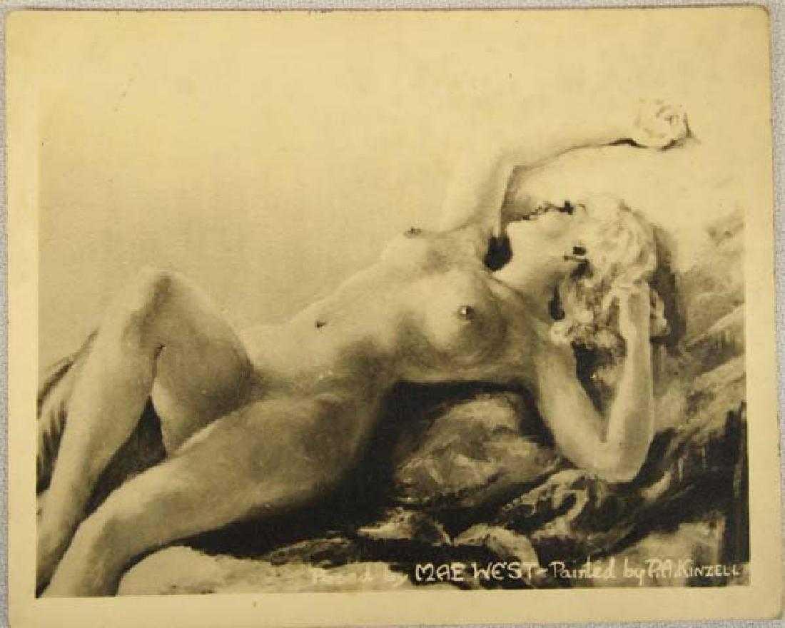 Vintage Photo Postcard of Nude Mae West