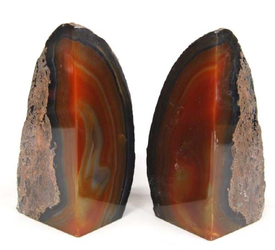 Beautiful Agate Geode Bookends