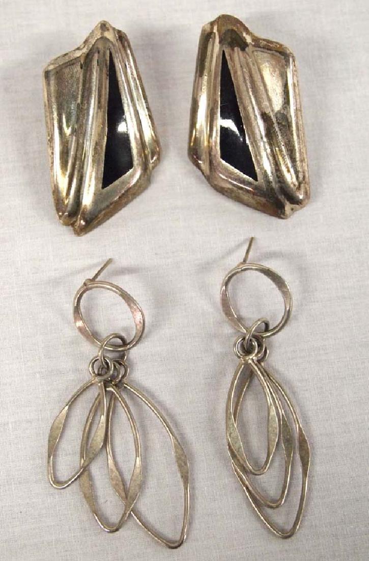 2 Pair Vintage Sterling Silver Earrings