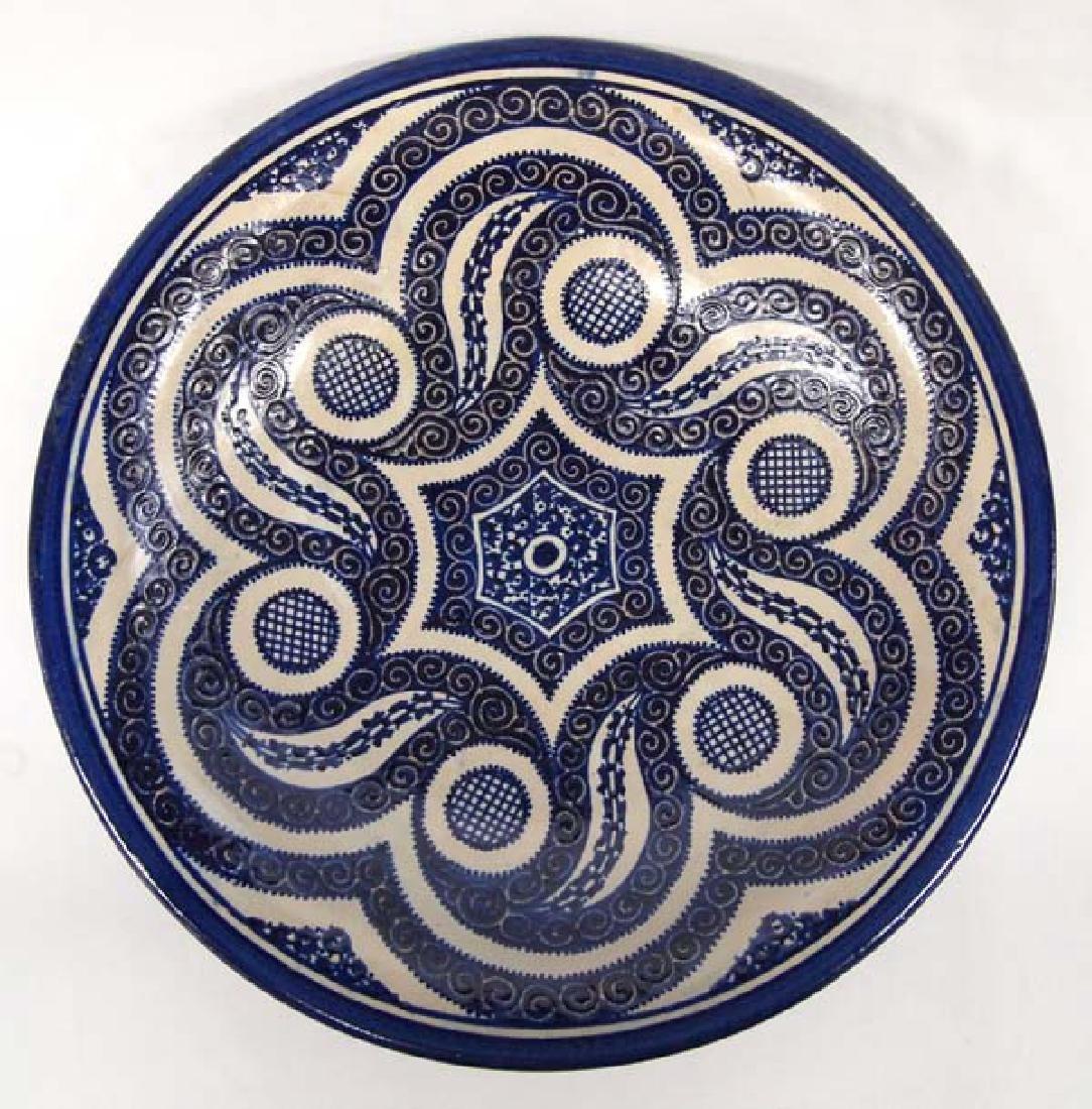 Beautiful Blue and White Stoneware Bowl