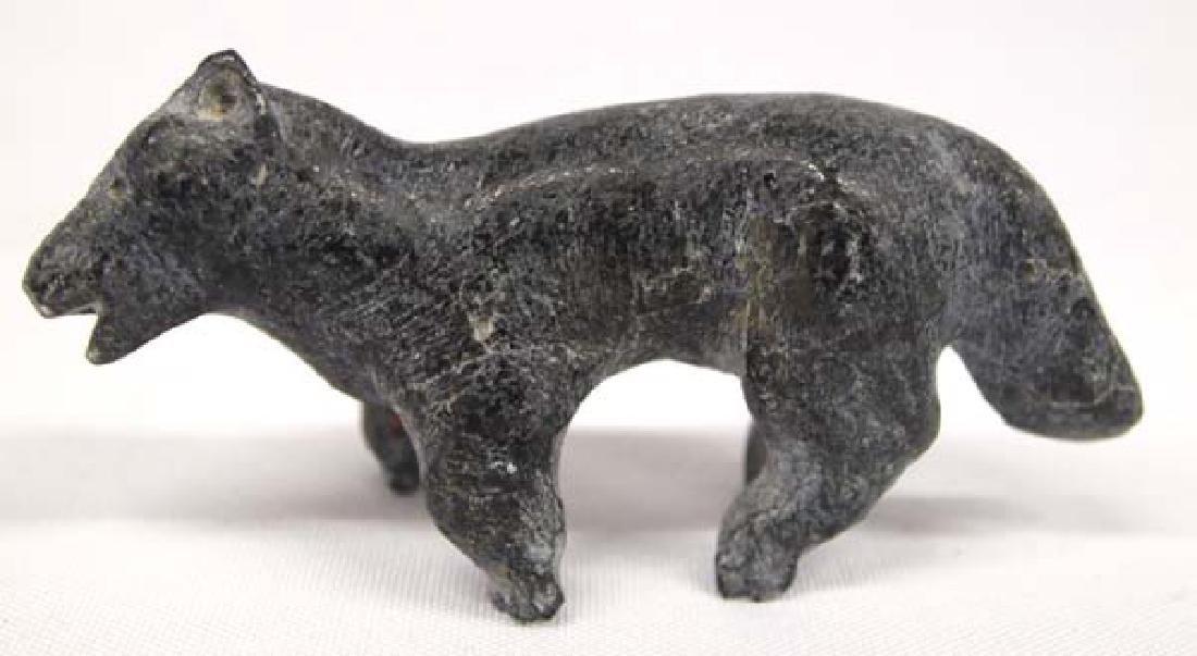 Canadian Inuit Carved Stone Dog