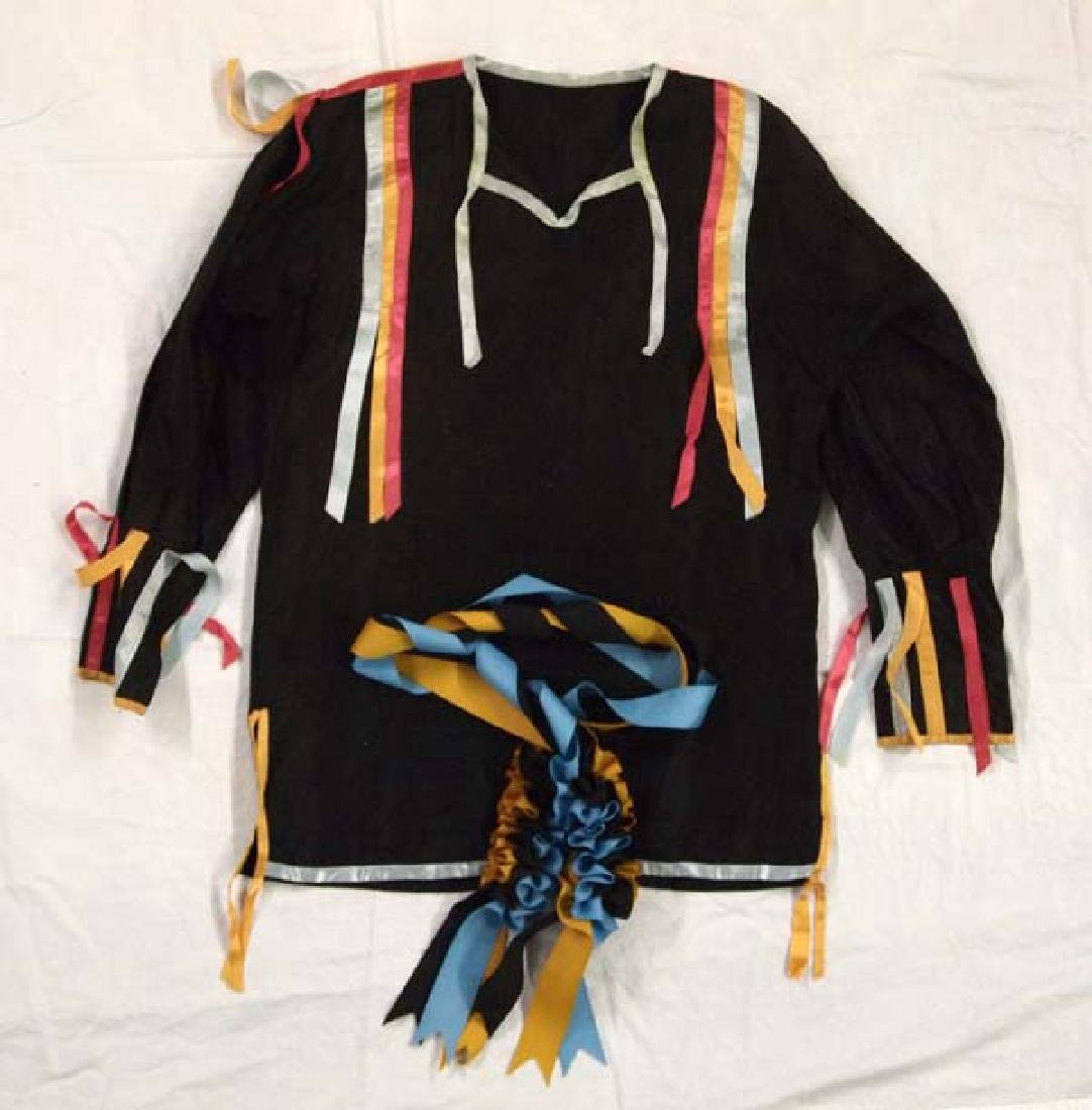 Native American Osage Handmade Ribbon Shirt & Sash