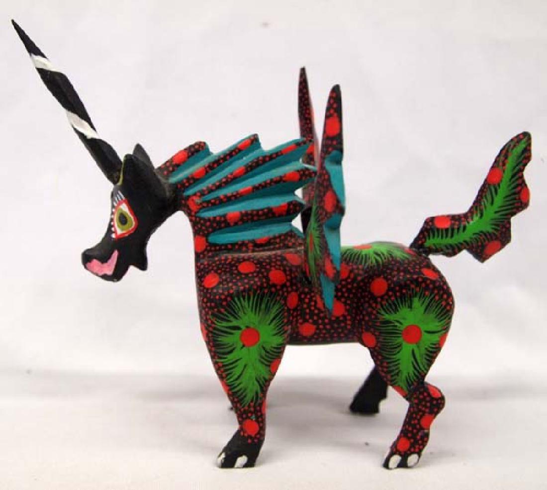 Mexican Oaxacan Flying Unicorn Alebrije by Mendez