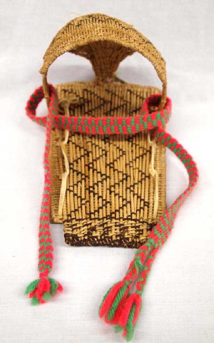 Native American Paiute Doll Cradleboard