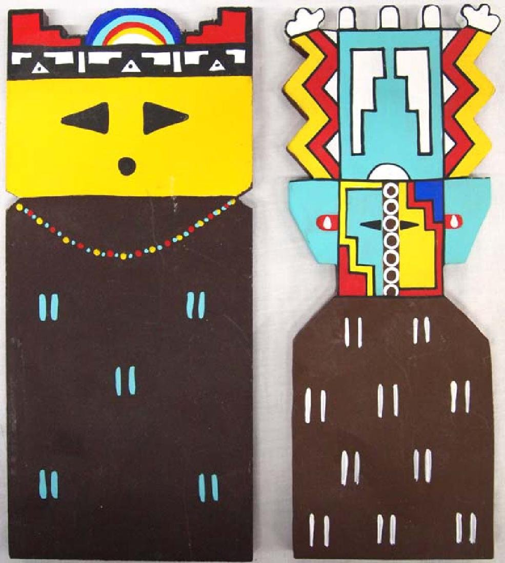 Pair of Hopi Wood Dance Paddles