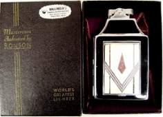 Ronson Art Deco Design Lighter & Cigarette Case