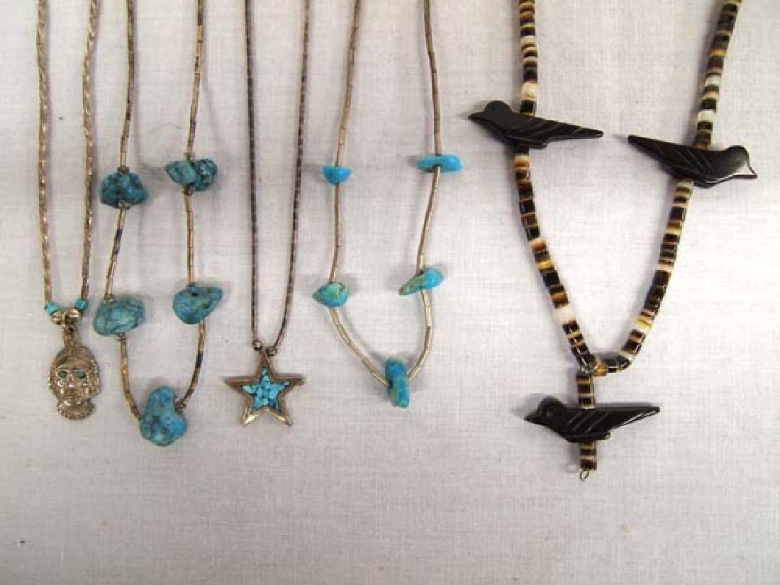 5 Native American Navajo Necklaces