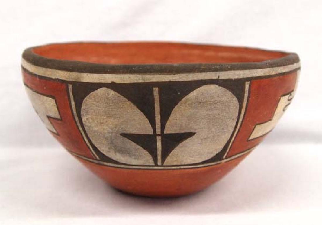 1975 Zia Pueblo Pottery Bowl by Reyes Pino