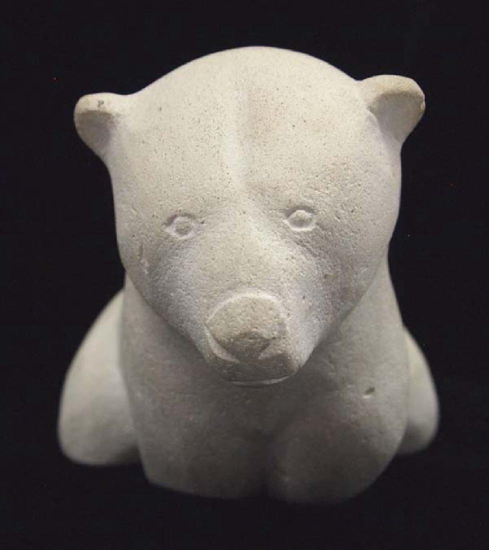 Native American Canadian Inuit Carved Stone Bear