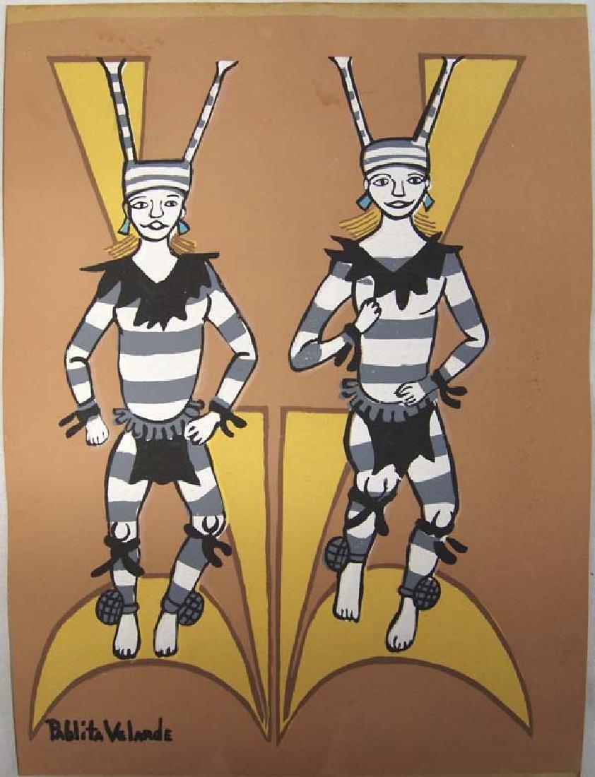 Native American Silkscreen Print, Pablita Velarde