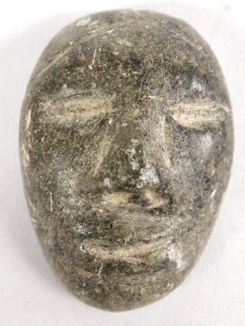 Canadian Inuit Carved Stone Maskette