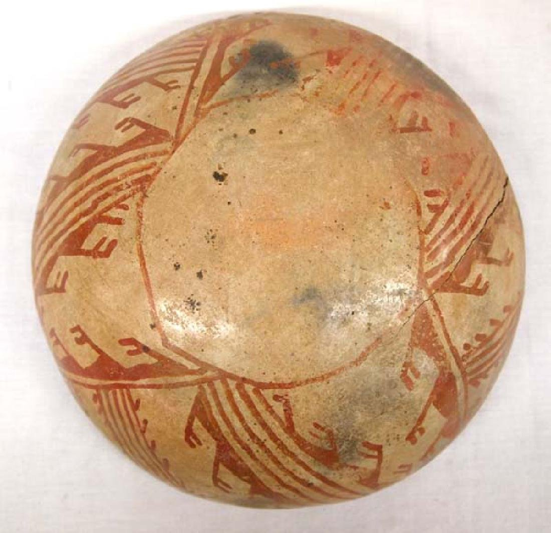 Prehistoric San Carlos Red on Tan Pottery Bowl