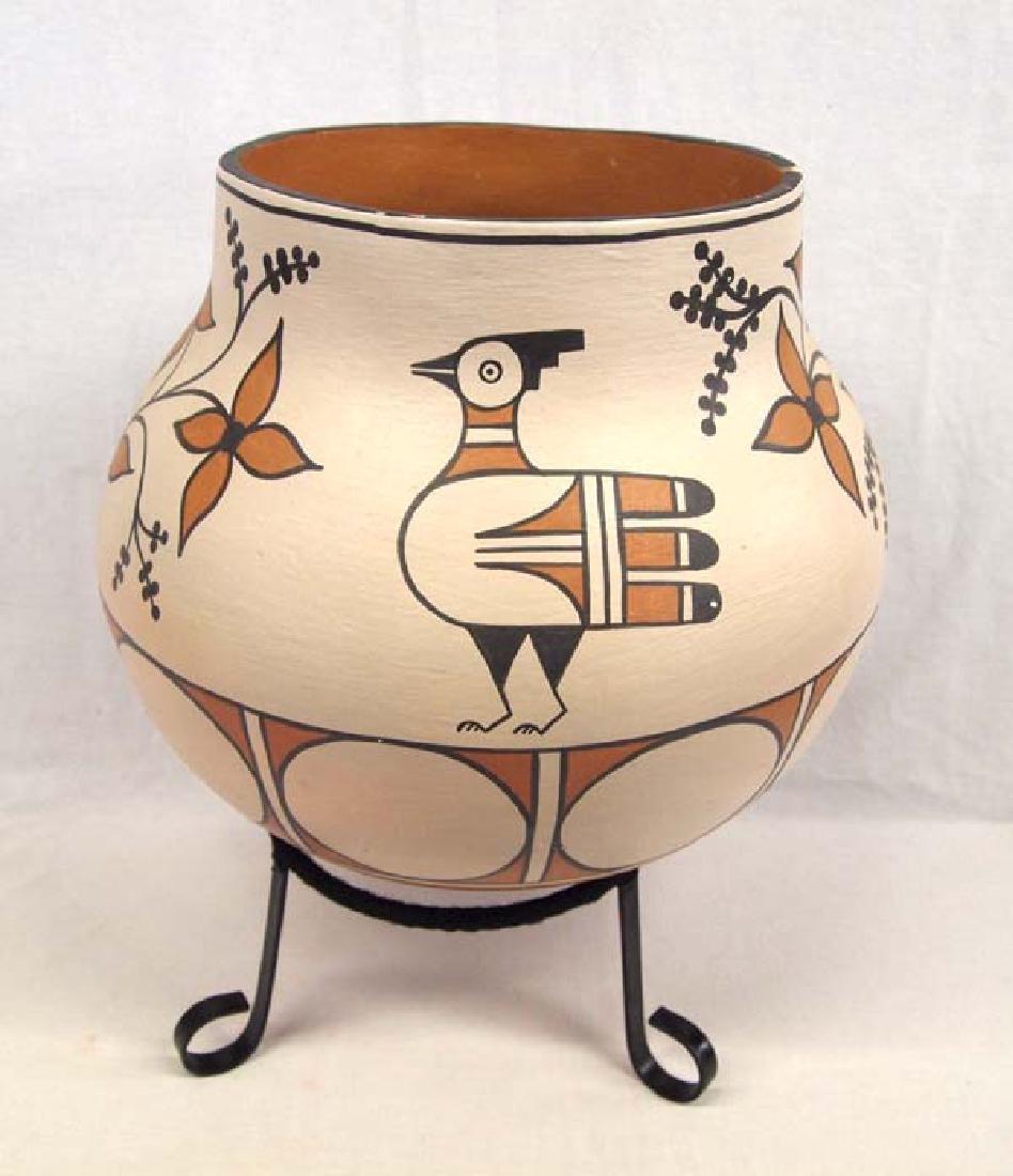 Santo Domingo Pottery Olla by Vicky Calabaza