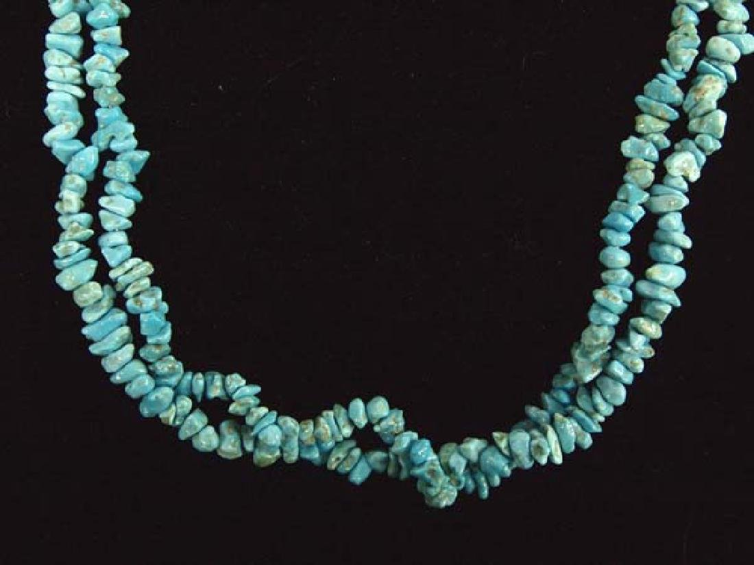 Navajo Two-Strand Turquoise Nugget Necklace