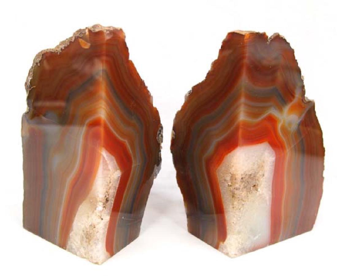 Stone Agate Bookends