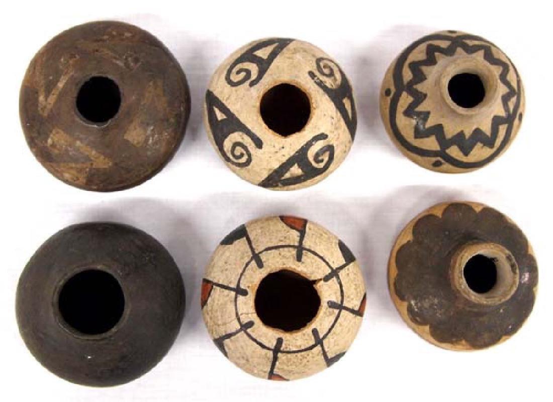 Collection of 6 Miniature Mata Ortiz Pots