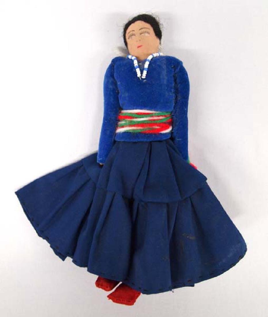Native American Navajo Cloth Doll, 7 in. S&H $8