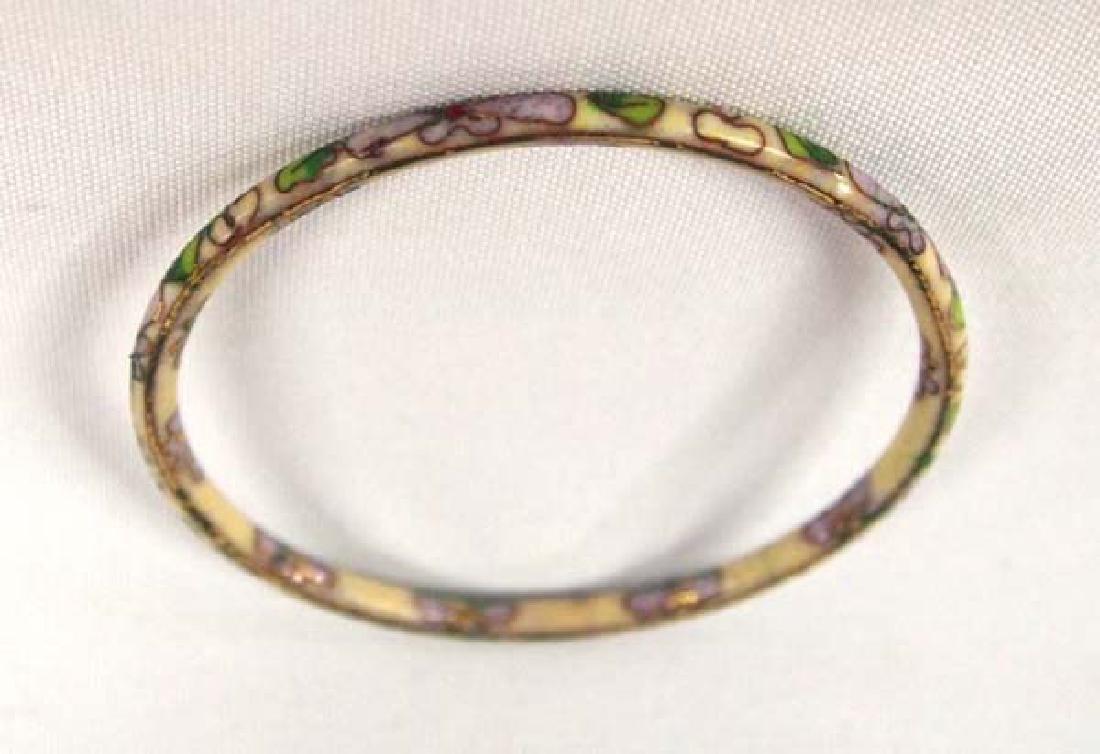 Cloisonne Bangle Bracelet, 2.75 in. S&H $8