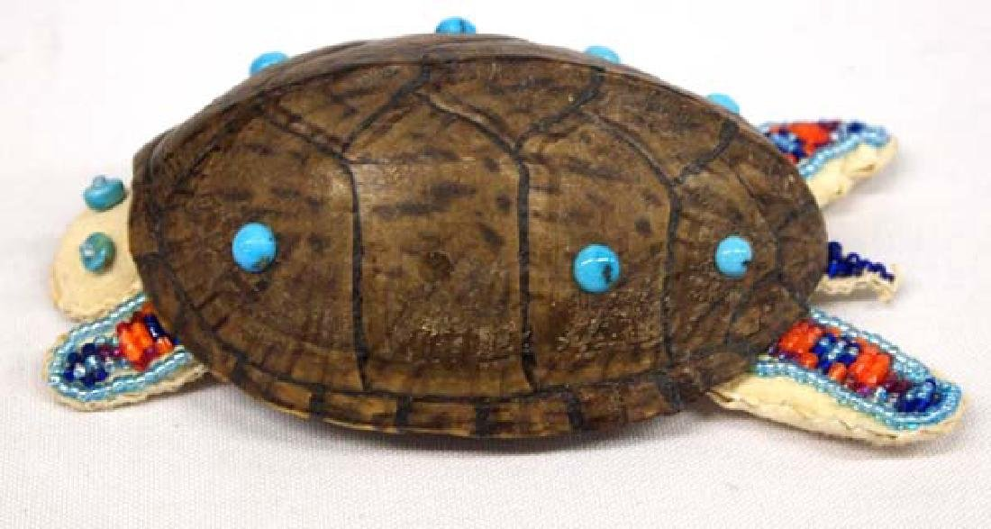 Native American Beaded Turtle 5in L SH $8