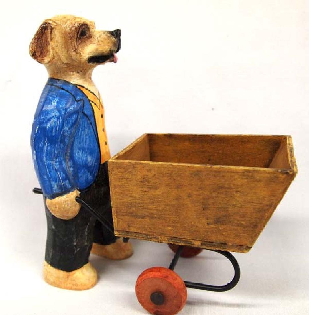 Dog and Cart, 7 in. S&H $14