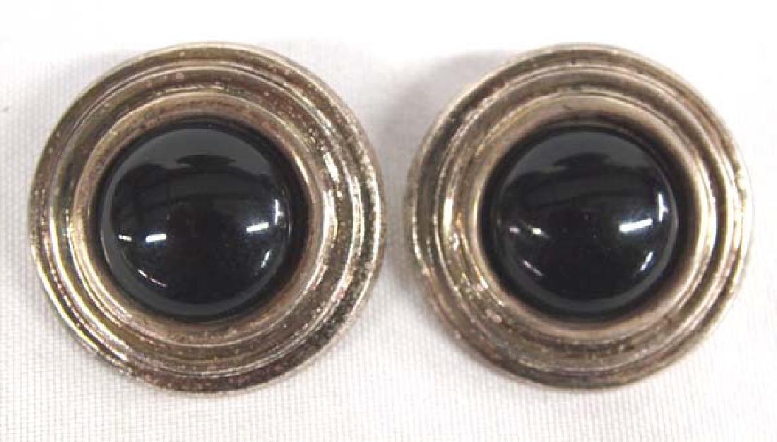 Silver Clip On Earrings, 2 in. S&H $8