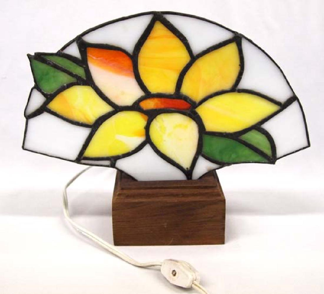 Stained Glass Lamp, 10 in. S&H $14