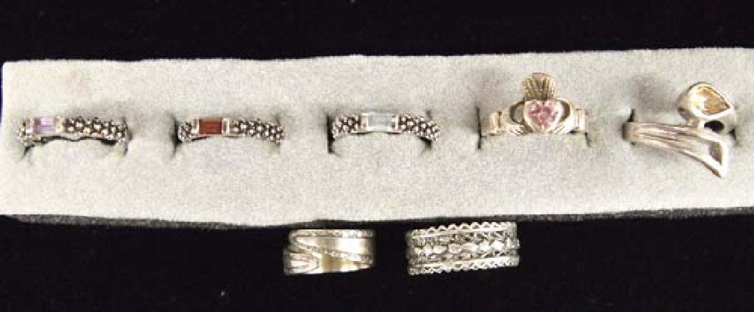 7 Sterling Silver Rings, S&H $8