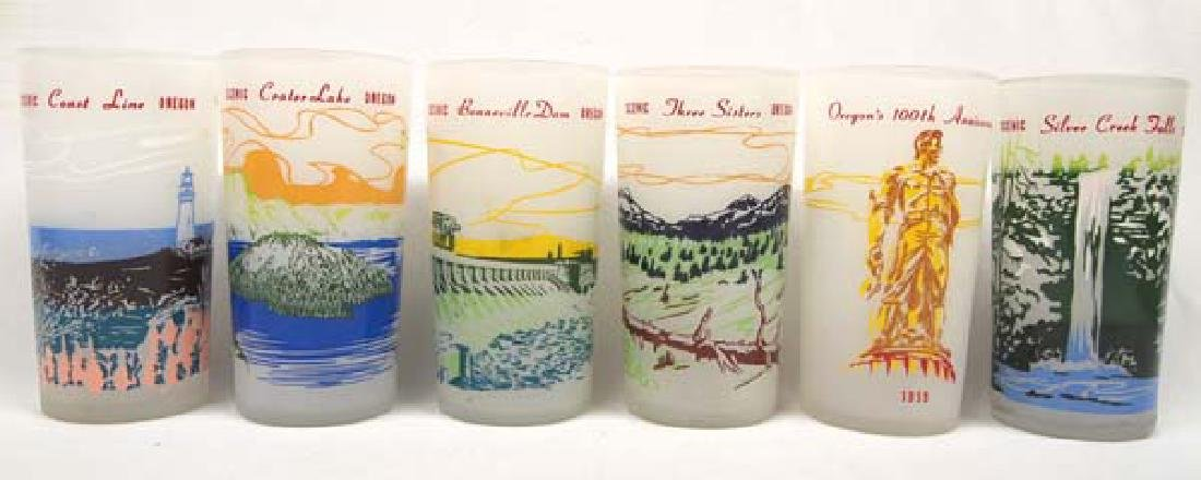 6 1950 Blakely Service Station Glasses 5in SH $20