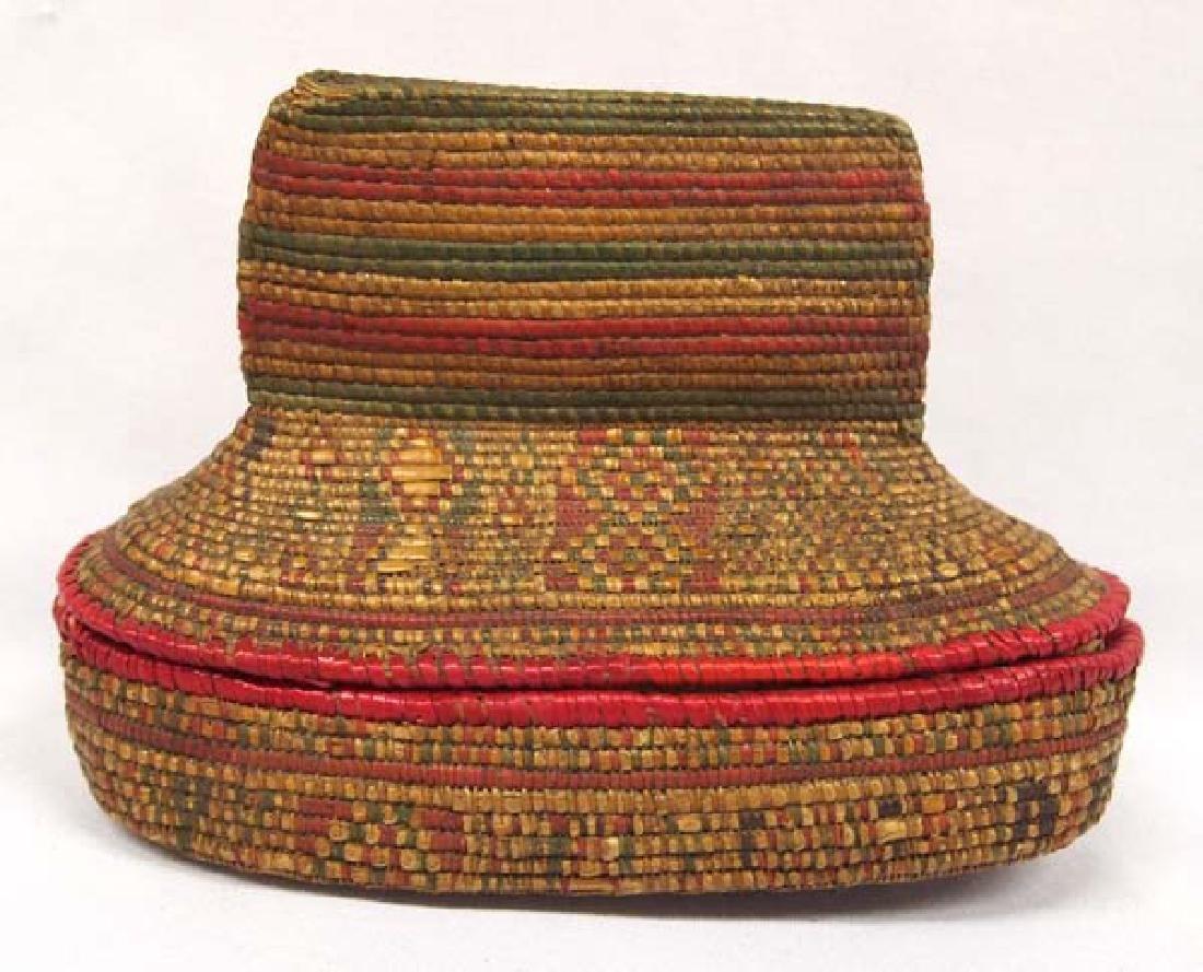Ethnic Lidded Basket, 5 in. S&H $8