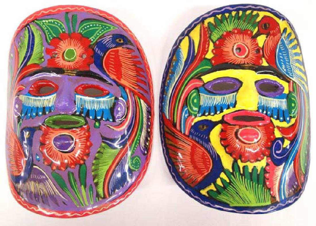 2 Mexican Masks  7in L, SH $14