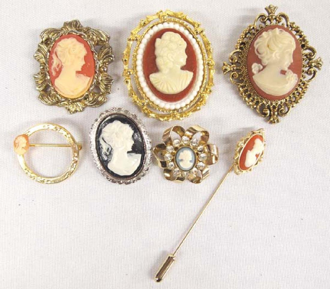 Cameo Jewelry, largest 1 in. S&H $8