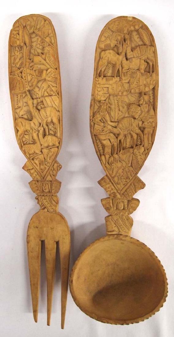 Wooden Spoon & Fork 13in L, SH $10