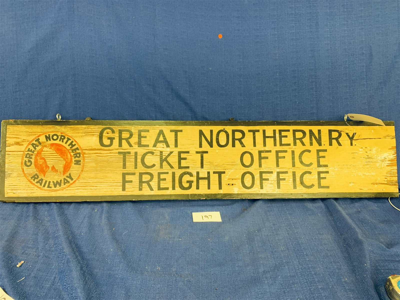 Wooden Great Northern Railway Sign (Double-sided)