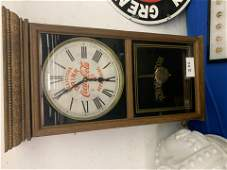 Antique Wooden Regulator CocaCola Wall Clock