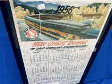 Great Northern 1956 Framed Calendar