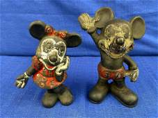 Cast Iron Minnie  Mickey Mouse Banks