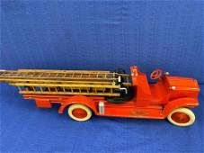 Vintage White Big Boy Metal Fire Engine