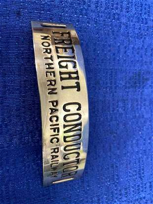 Northern Pacific Railway Conductors Hat Badge