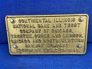 Chicago and Northwestern Trust Plate