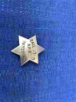 Northern Pacific Railway Watchman Badge