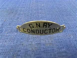 Great Northern Railway Conductors Hat Badge