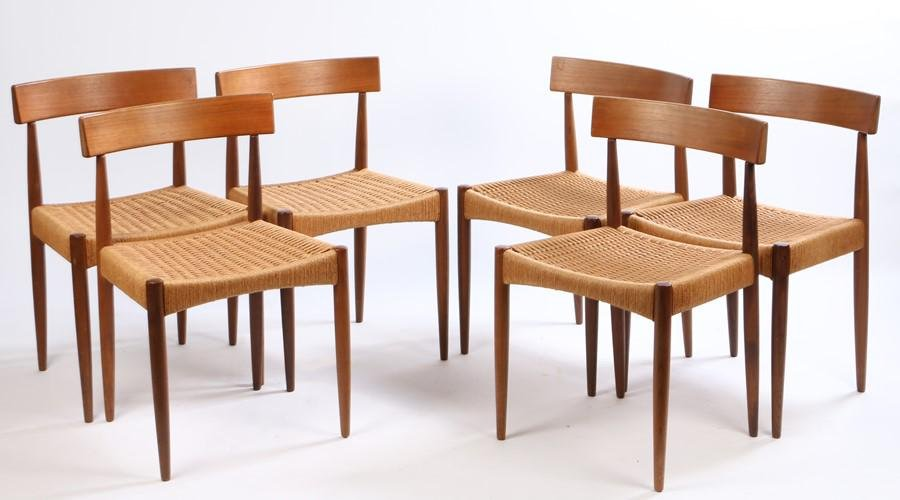 Arne Hovmand-Olsen for Mogens Kold, a set of six Danish