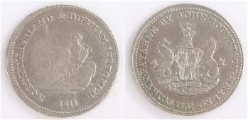 George III silver token, 1811 Northumberland & Durham