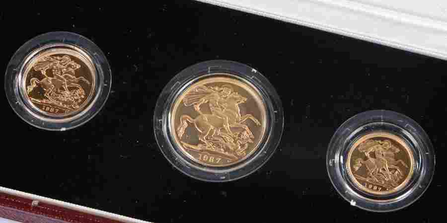 Elizabeth II United Kingdom Gold Proof Set, 1987, to